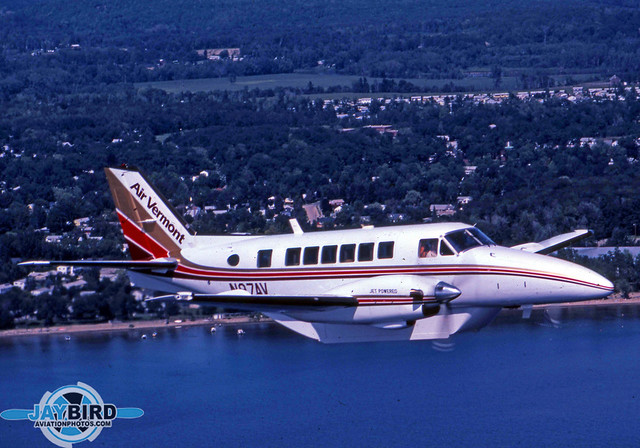 Air Vermont was one of the early operators of the Beech C-99. I photographed N97AV hugging the coast of Lake Champlain in August 1983