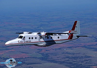 Exec Express Airlines operated a small fleet of DO-228s and Piper T-1040s. I photographed this DO-228 in Oklahoma.