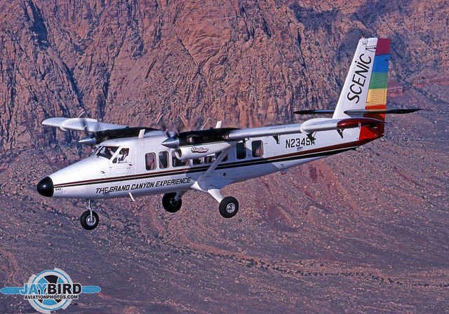 Scenic Airlines led the way in converting the venerable Twin Otter into an aircraft more suitable for sightseeing. The DHC-6 was refitted with larger windows and a four-bladed prop which reduces noise inside and outside the cabin. These Vistaliner conversions are in use around the world today