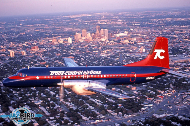 Trans Central Airlines was an improbable airline operating an improbable aircraft type with an improbable hub - Tulsa, OK.  Nevertheless, the company's YS-11 made a colorful subject flying over Tulsa in July 1983