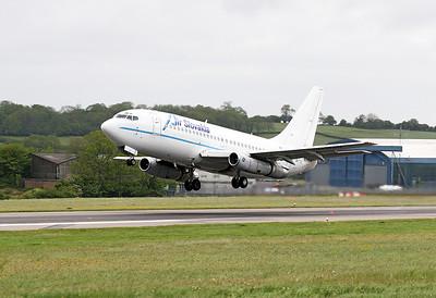 Air Slovakia B737-200 OM-RAN departing.