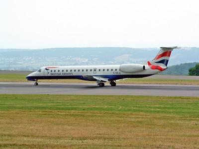 BA E145 G-ERJC arriving at Lulsgate. 27th June 2001.