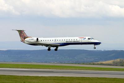 BA EMB 145 G-EMBG landing on 09 at Lulsgate, 9th April 2003.