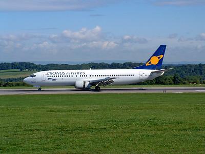 Cronus Airlines B737 SX-BGJ arriving Lulsgate. 10th August 2001.
