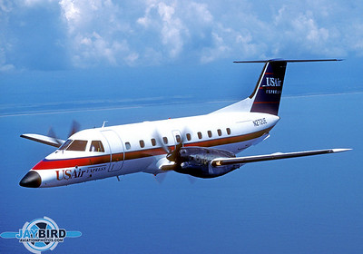 After the merger with Piedmont, USAir began dismantling the highly-successful Florida Shuttle and replaced the jets with Henson Airlines Dash 8s on heavier routes, and Embraer Brasilias on thinner routes.  Florida Gulf Airlines was formed under the Mesa Airlines certificate to operate as a USAir Express carrier focused on Florida and the Southeast.