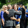 Friends and loved ones of A.J. Robbins gathered at Our Lady of the Lake in Leominster to say their final goodbyes on Friday morning. Robbins, a 2016 graduate of Lunenburg High, was killed in a drunk driving accident on August 27th. SENTINEL & ENTERPRISE / Ashley Green