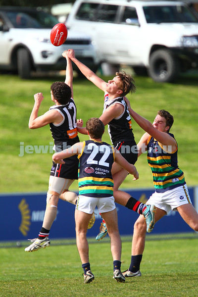 23-8-15. VAFA Premier B Thirds. Preliminary Final at Sportscover Arena, Elsternwick.  AJAX Black 9.8.62 lost to St Kevins15.8.98. Photo: Peter Haskin