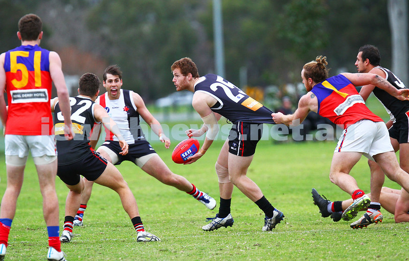 27-6-15. VAFA. AJAX defeated Fitztroy at the Gary Smorgon Oval.  Jake Lew. Photo: Peter Haskin