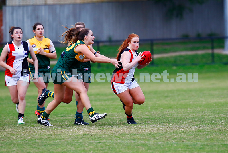 14-5-17. AJAX Jackettes 10-8-68 def  Hampton Rovers 0-2-2. Chelsea Fisher. Photo: Peter Haskin
