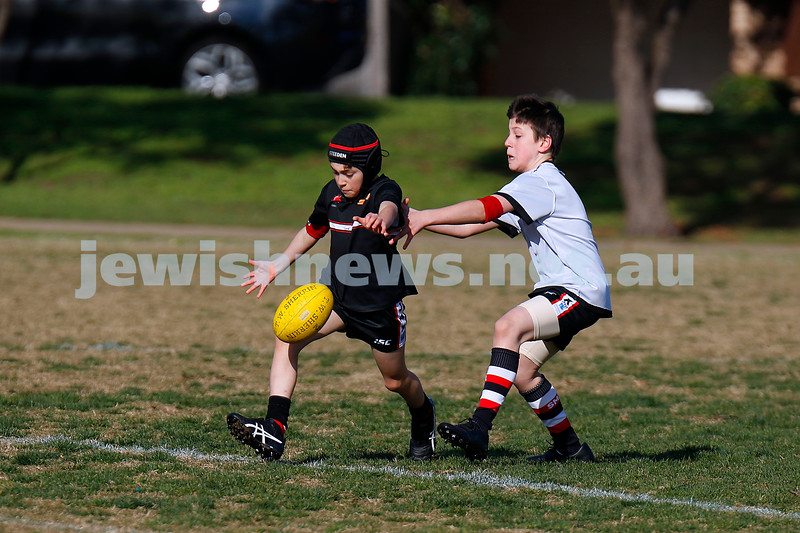 28-6-20. AJAX football U 10s Stars and Rockets training at Princes Park, Caulfield. First practice match since COVID 19 restrictions. Photo: Peter Haskin