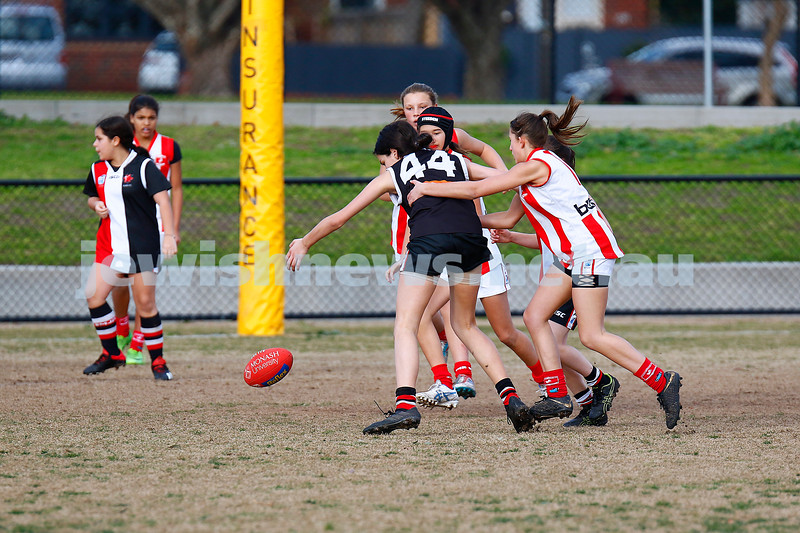 21-7-19. AJAX U 14 Girls v Mordialloc Braeside at Princes Park, Caulfield. Photo: Peter Haskin