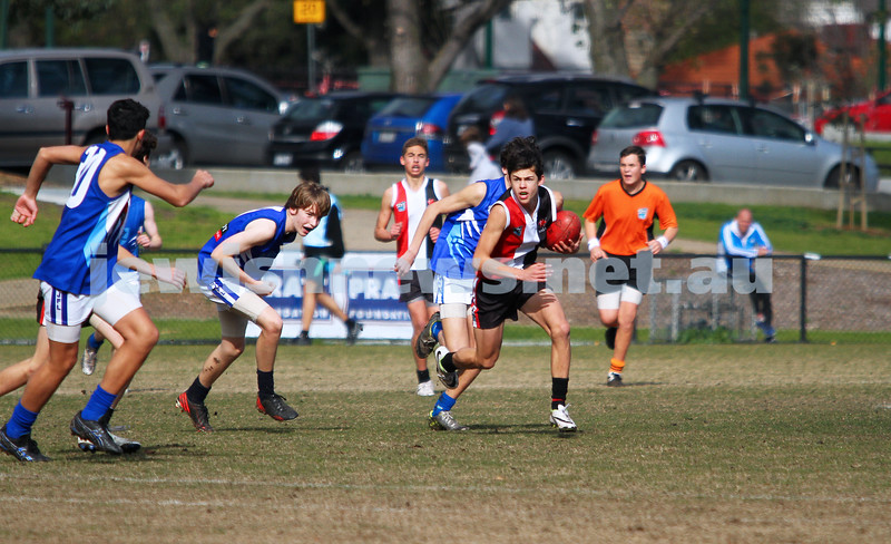 20-7-14. AJAX U 15 Comets def Prahran. Photo: Peter Haskin