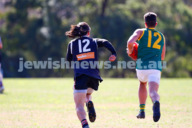 25-8-19. AJAX U 15 Jets versus Oakleigh in the 2nd semi final at DW Lucas Oval, East Malvern. Photo: Peter Haskin