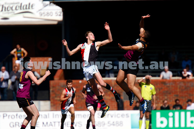 11-9-16. VAFA Under 19 Grand Final. Trevor barker Oval. AJAX 5-5-35 lost to Old Haileybury 7-12- 54. Photo: Peter Haskin