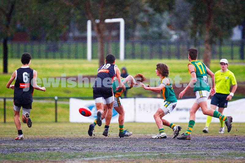 23-7-17. AJAX U 15 Comets lost to Oakleigh at Princes Park, Caulfield.  Photo: Peter Haskin