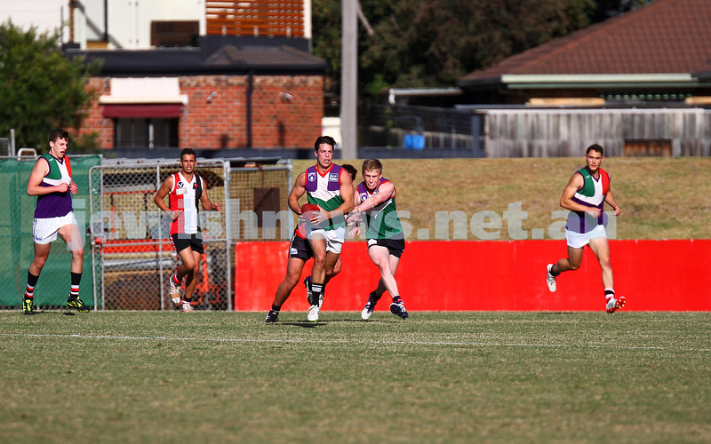 3-4-15. AJAX intra club practice match at Moorabin Oval, Linton St. Photo: Peter Haskin