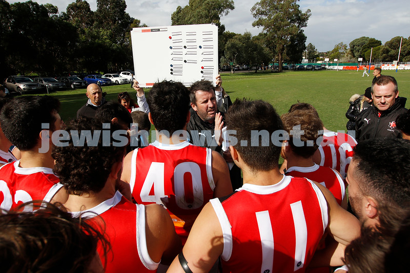 10-4-21. Round 1, Premier B. AJAX seniors 8.13.61 def Old Carey 6.9.45 at Carey Sports Complex, Bulleen. Photo: Peter Haskin