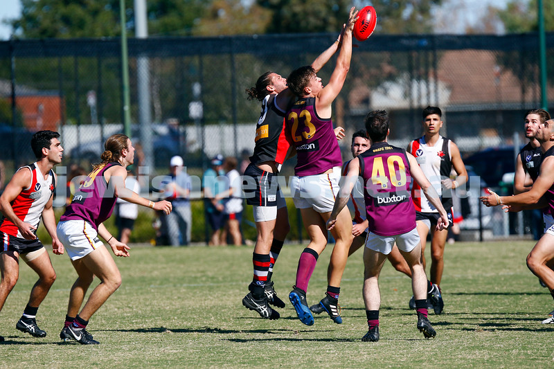 7-4-18. Round 1 at Princes Park.  AJAX def Old Haileyburians 20.7-127 to 10.8-68. Photo: Peter Haskin