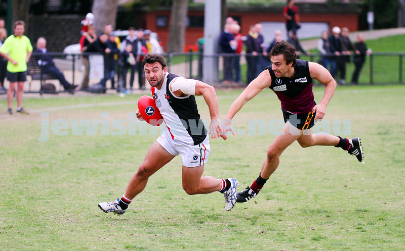 26-4-14. AJAX lost to Old Haileybury by 27 points at Princes Park, Caulfield.  Jason Ritterman. Photo: Peter Haskin