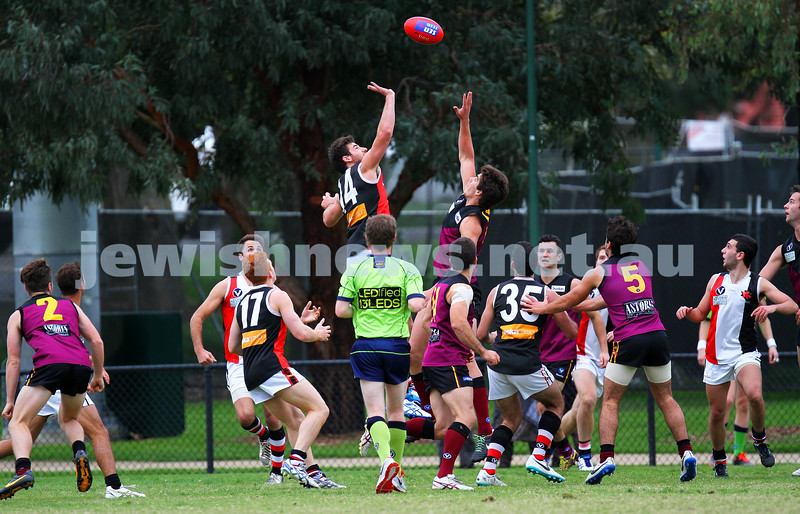 26-4-14. AJAX lost to Old Haileybury by 27 points at Princes Park, Caulfield.  Photo: Peter Haskin
