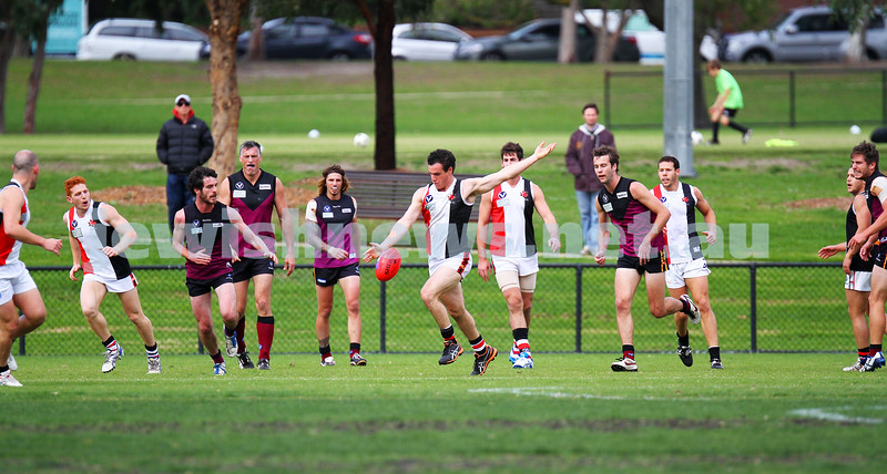 26-4-14. AJAX lost to Old Haileybuty by 27 points at Princes Park, Caulfield.  Warren Steinberg. Photo: Peter Haskin