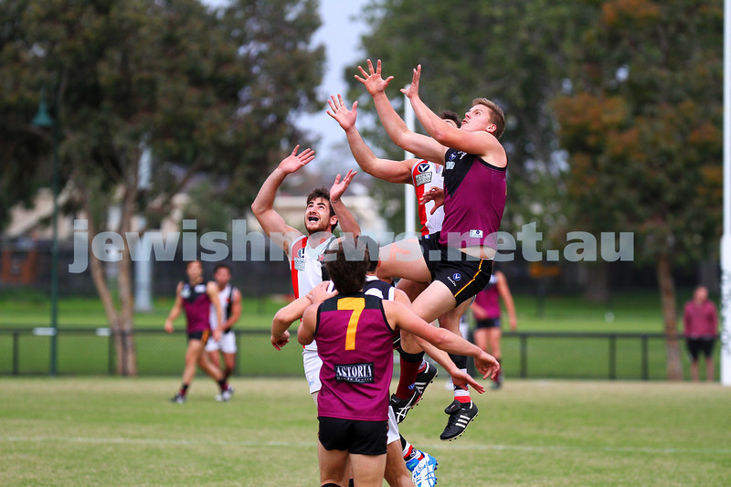 26-4-14. AJAX lost to Old Haileybuty by 27 points at Princes Park, Caulfield.  Photo: Peter Haskin