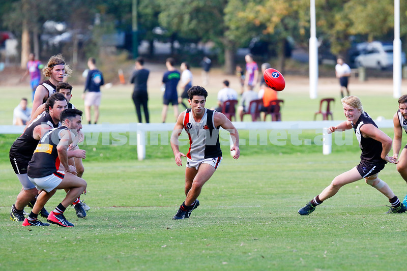 13-4-19. Premier C, round 2. AJAX 14.9-93 def Old Ivanhoe Grammarians 8.13-61 at Chelsworth Park. Photo: Petert Haskin