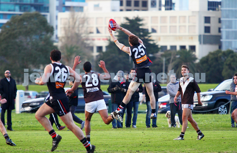 2-8-14. AJAX defeated Old Ivanhoe by 27 points at Gary Smorgon Oval.  Jake Lew. Photo: Peter Haskin