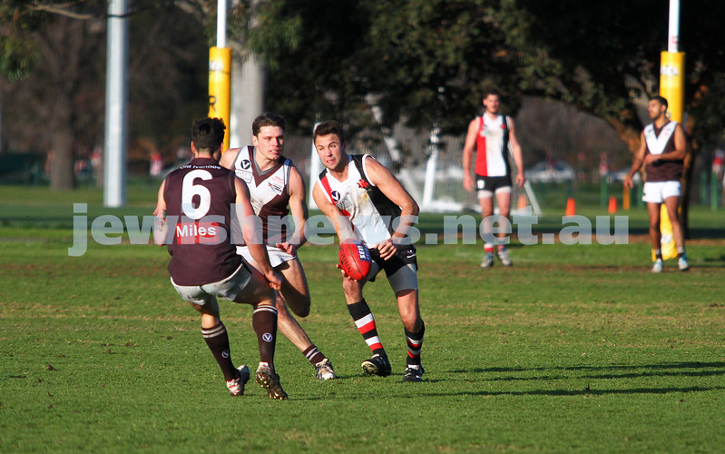 2-8-14. AJAX defeated Old Ivanhoe by 27 points at Gary Smorgon Oval. David Fayman. Photo: Peter Haskin