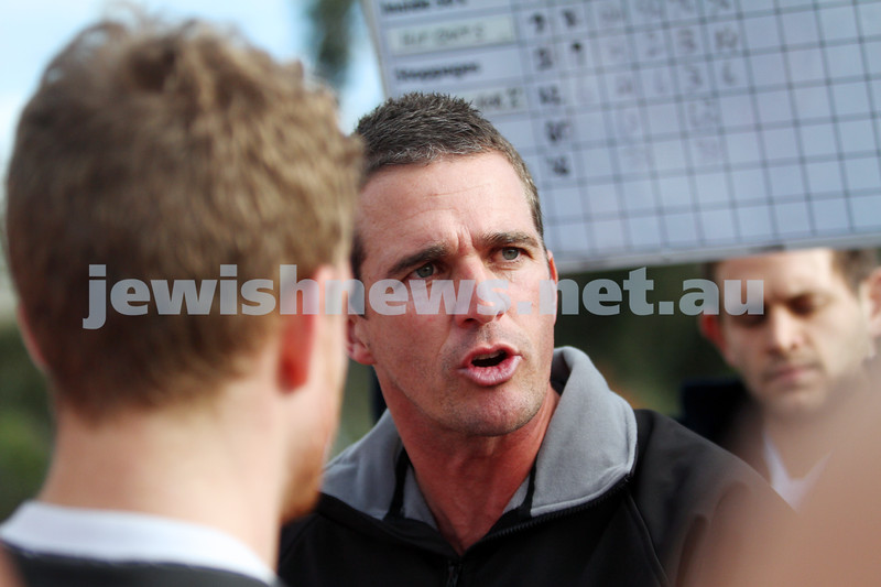 2-8-14. AJAX defeated Old Ivanhoe by 27 points at Gary Smorgon Oval. Coach Leigh McQuillen. Photo: Peter Haskin