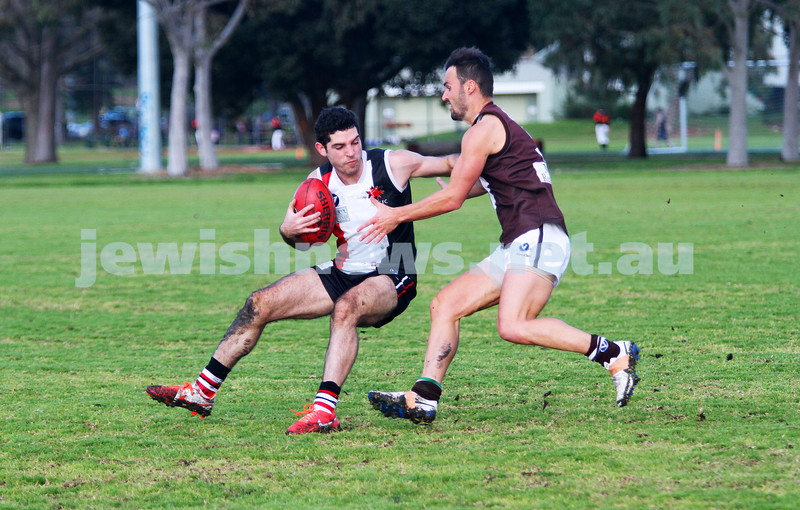 2-8-14. AJAX defeated Old Ivanhoe by 27 points at Gary Smorgon Oval. Corey Jankie. Photo: Peter Haskin