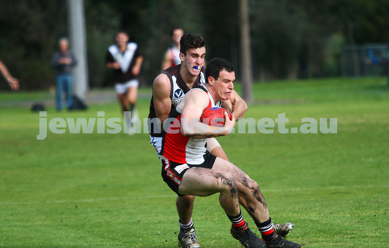 2-8-14. AJAX defeated Old Ivanhoe by 27 points at Gary Smorgon Oval. Warren Steinberg. Photo: Peter Haskin