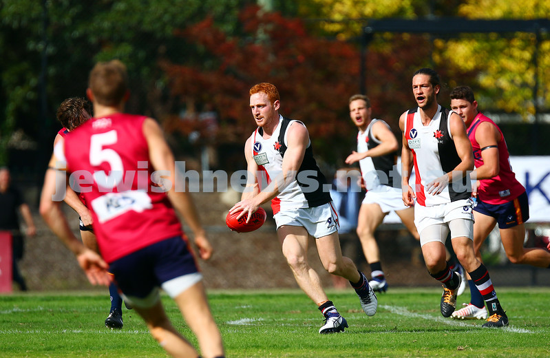 9-4-16. VAFA. Round one, 2016 Premier B season. AJAX defeated by Old Scotch. Photo: Peter Haskin
