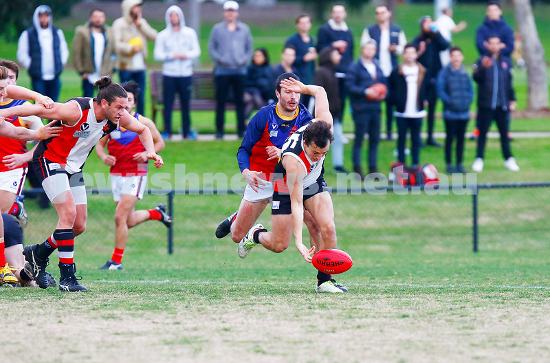 24-6-17. AJAX 14.11.95 def Parkdale 7.10.52 at Princes Park. Dean Rotenberg. Photo: Peter Haskin