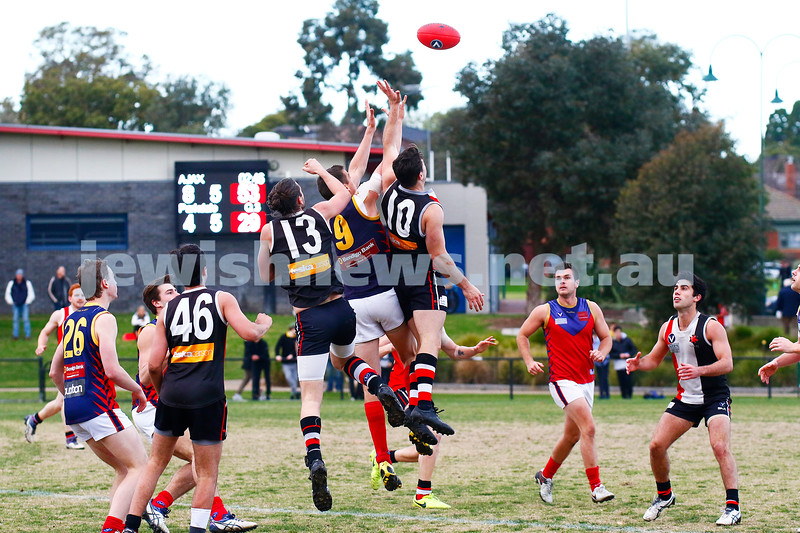 24-6-17. AJAX 14.11.95 def Parkdale 7.10.52 at Princes park. Zac Braun (13), Adam Caplan (10). Photo: Peter Haskin