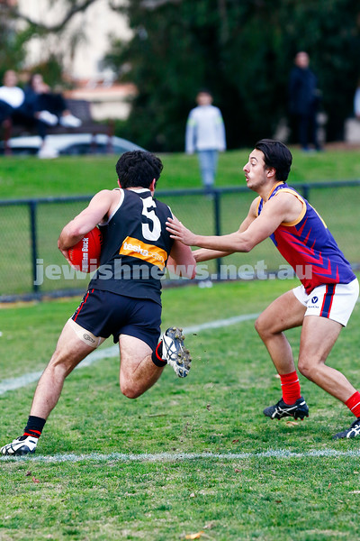 24-6-17. AJAX 14.11.95 def Parkdale 7.10.52 at Princes park. Nick Lewis. Photo: Peter Haskin