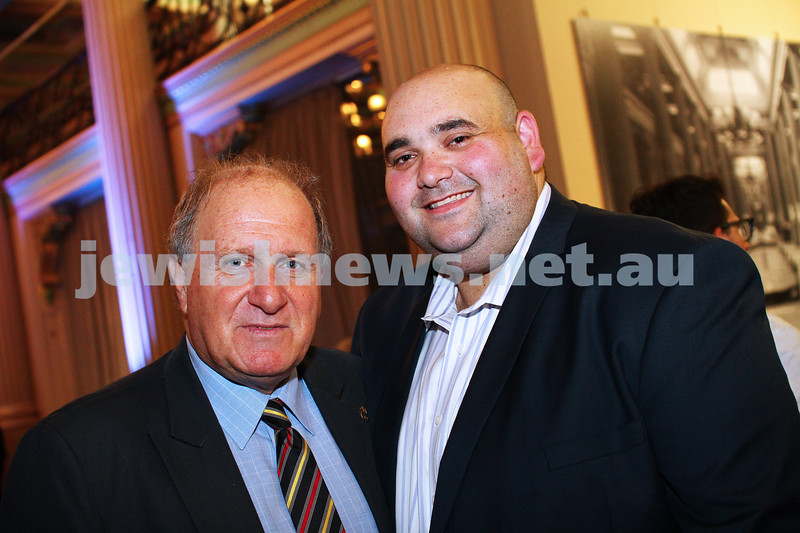17-2-15. Australian Jewish News. 120 Years book launch at the State Library of Victoria.  Eitan Drori,  Josh Levy. Photo: Peter Haskin
