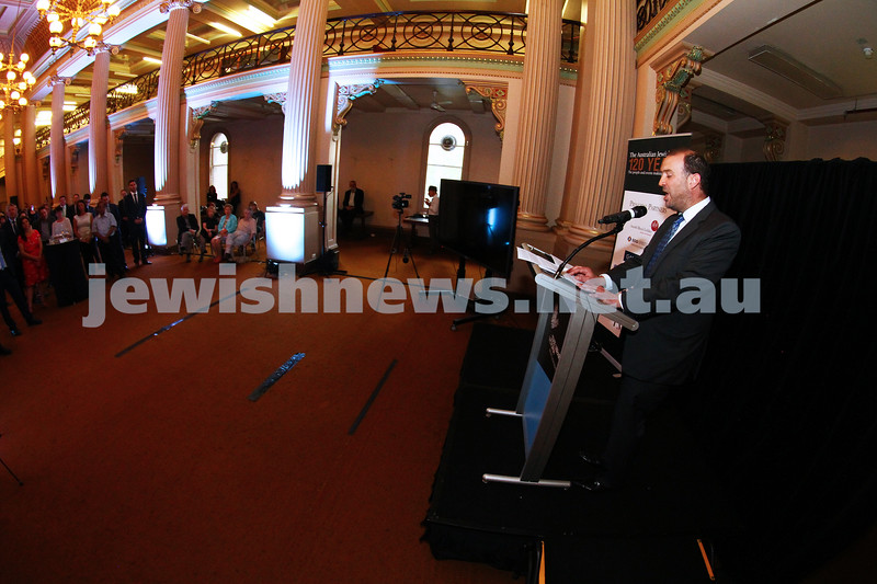 17-2-15. Australian Jewish News. 120 Years book launch at the State Library of Victoria. Zeddy Lawrence. Photo: Peter Haskin