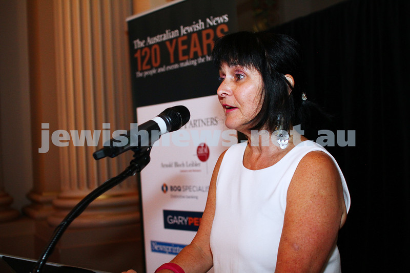 17-2-15. Australian Jewish News. 120 Years book launch at the State Library of Victoria. Karen Klein. Photo: Peter Haskin