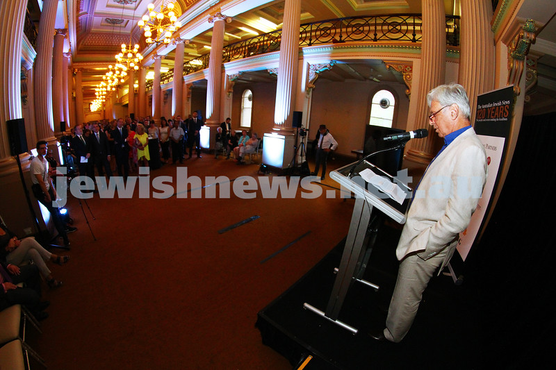 17-2-15. Australian Jewish News. 120 Years book launch at the State Library of Victoria. Bob Magid. Photo: Peter Haskin