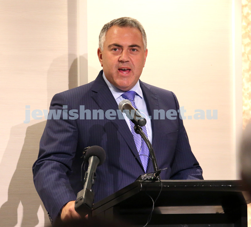 AJN 120th. Joe Hockey.