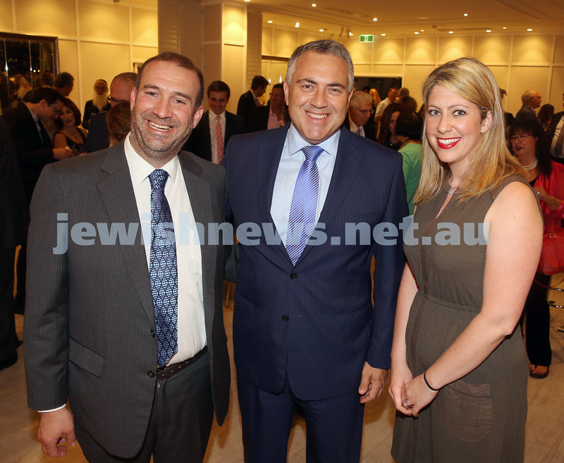 AJN 120th. Zeddy & Adina Lawrence with Joe Hockey.