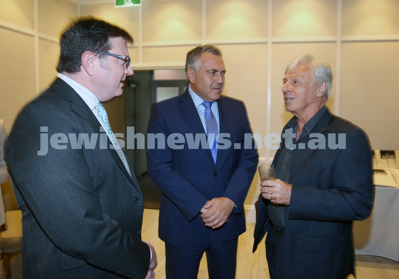 AJN 120th. Rod Kenning, Joe Hockey, Robert Magid.