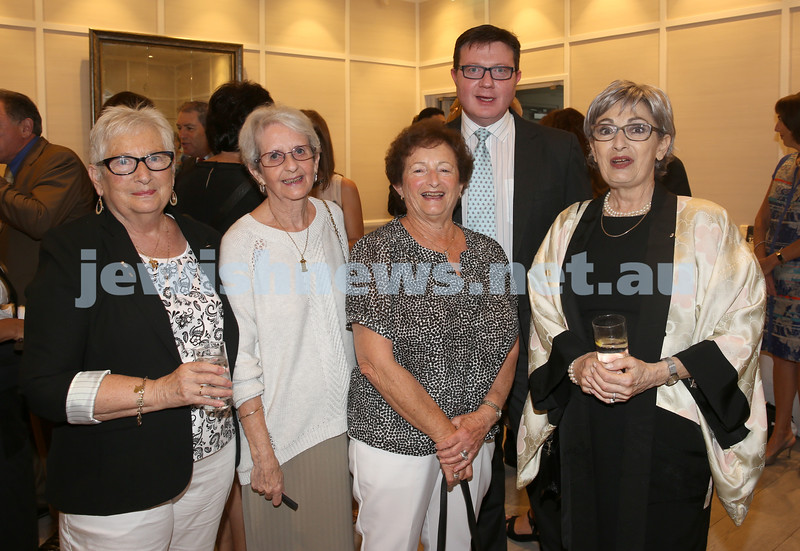 AJN 120th. Benita Weinberg, Betty Golland, Railee Michelin ,Rod Kenning, Susan Bures.