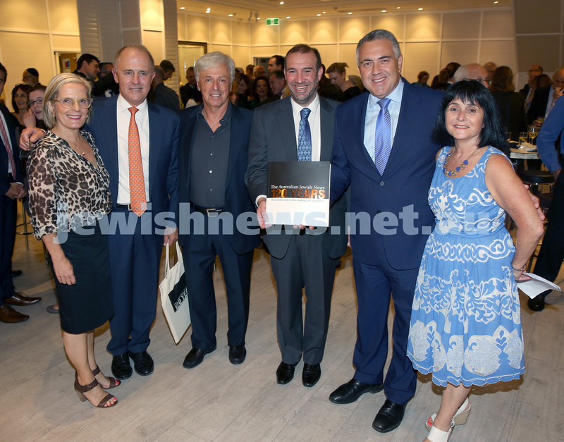 AJN 120th. Lucy & Malcolm Turnbull, Robert Magid,Zeddy Lawrence, Joe Hockey, Karen Klein.