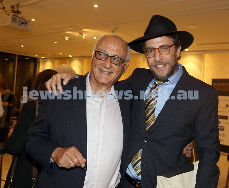 AJN 120th. Robert gavshon and Rabbi Levi Wolff.