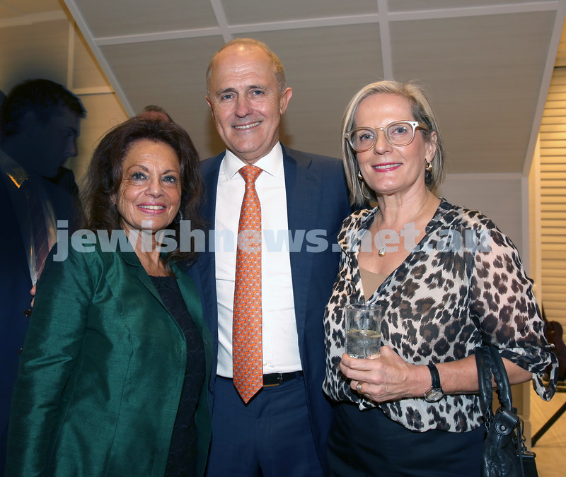 AJN 120th. Eva Fischl, Malcolm & Lucy Turnbull.