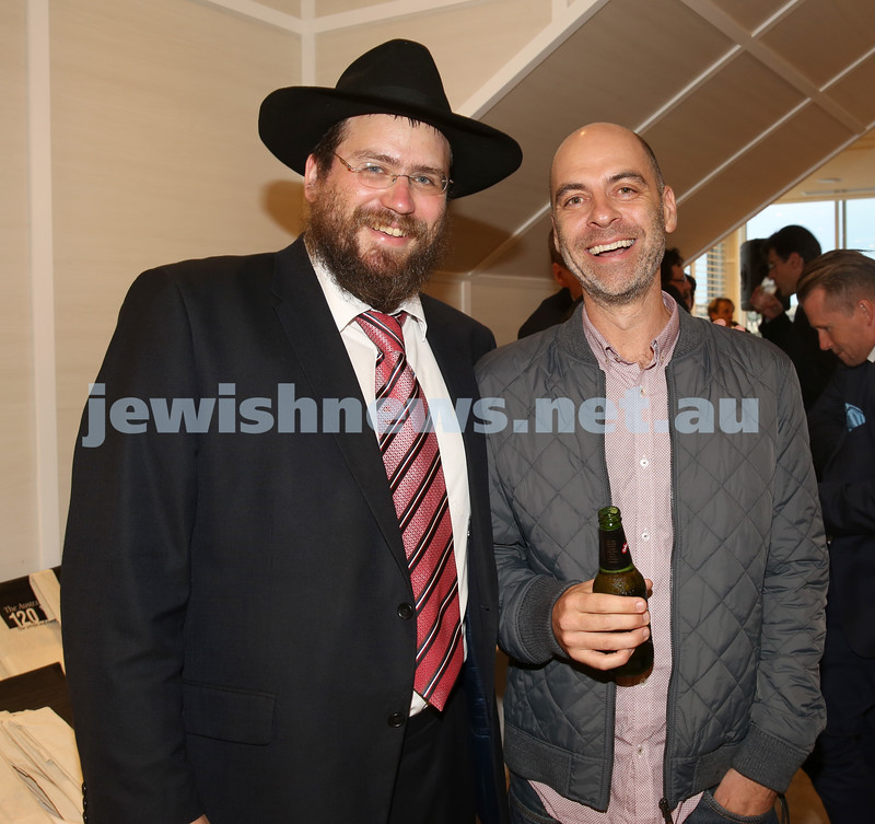 AJN 120th. Rabbi Eli Feldman and Dan Goldberg.