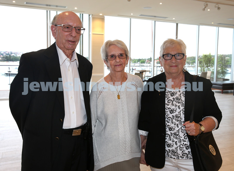 AJN 120th. Mike  Golland & wife Betty, and Benita Weinberg.