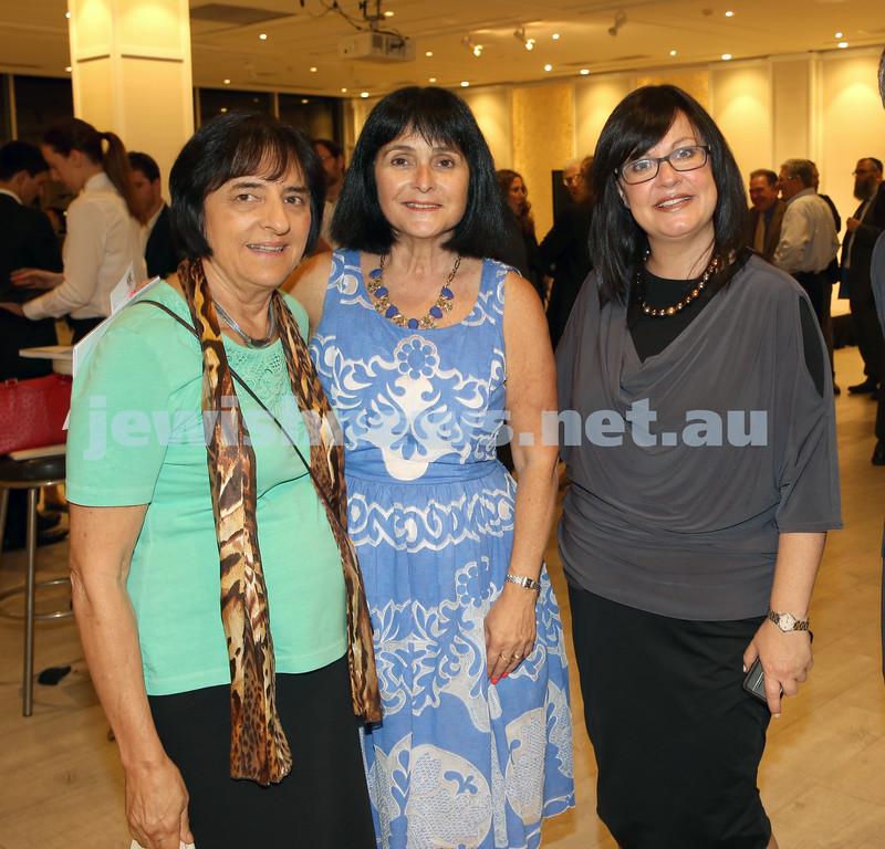 AJN 120th. Suzanne Rutland, Karen Klein, Laya Slavin.